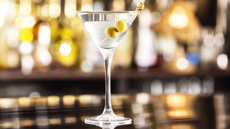 Martini, up, with olives