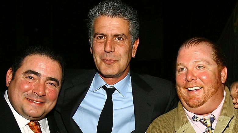 Emeril Lagasse, Anthony Bourdain and Mario Batali