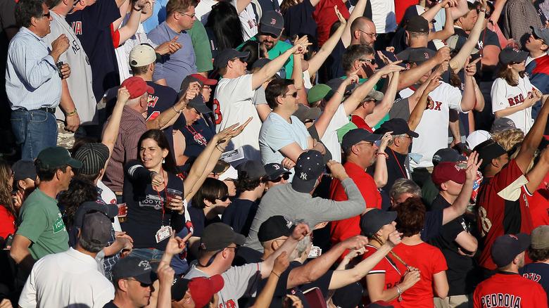 Red Sox fans sing Sweet Caroline