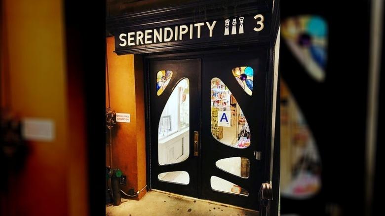 Outside the Serendipity 3 restaurant, New York
