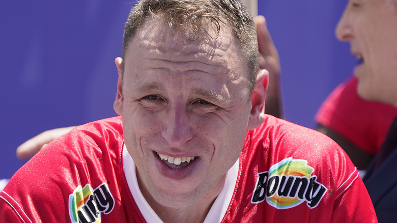 Joey Chestnut at eating competition
