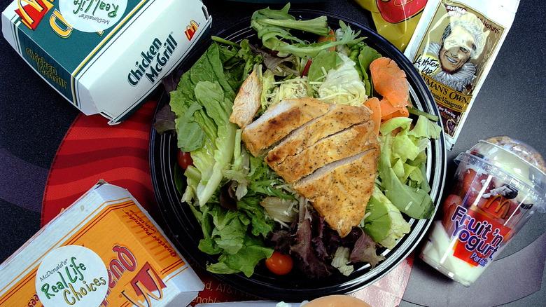 McDonald's salad healthy options