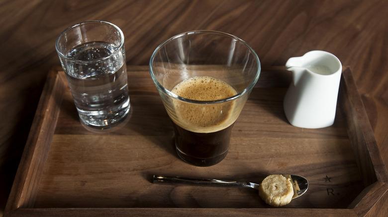 Espresso at a Starbucks Reserva