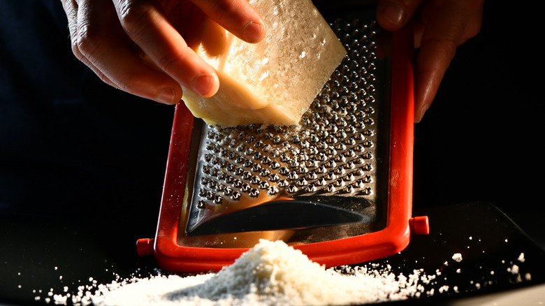 Delicious grated parmesan cheese