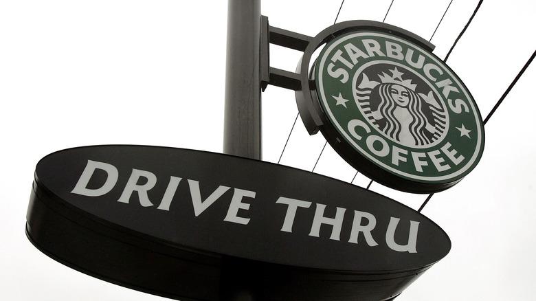 starbucks drive thru