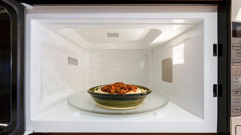 microwaved leftovers