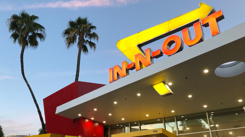 In-N-Out sign on building