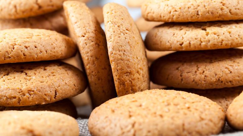 Stacks of brown sugar cookies