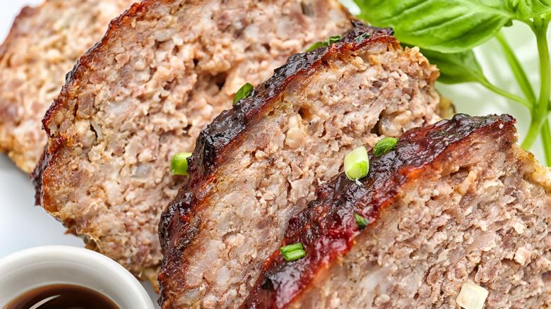 Sliced turkey meatloaf