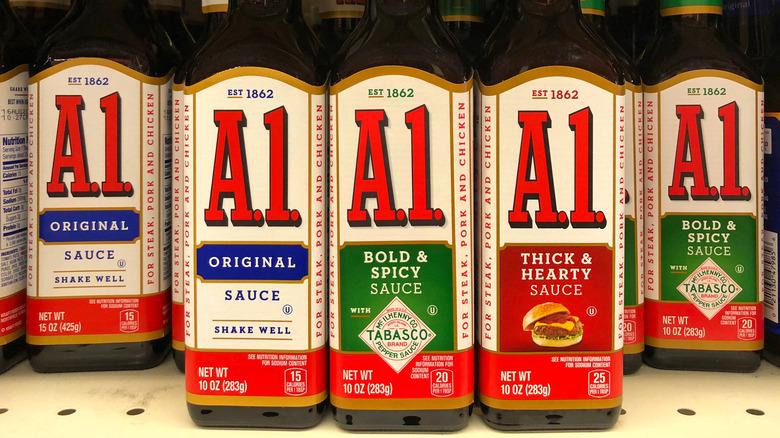Bottles of A.1. Sauce