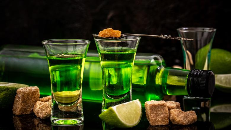 green shots of absinthe