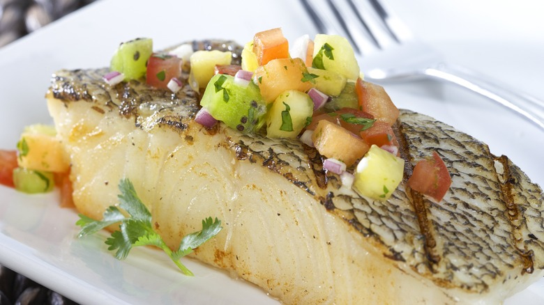 Chilean sea bass dish