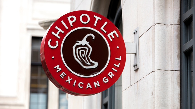 Chipotle sign on building