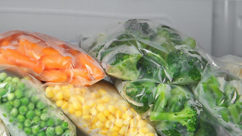 frozen food on a shelf
