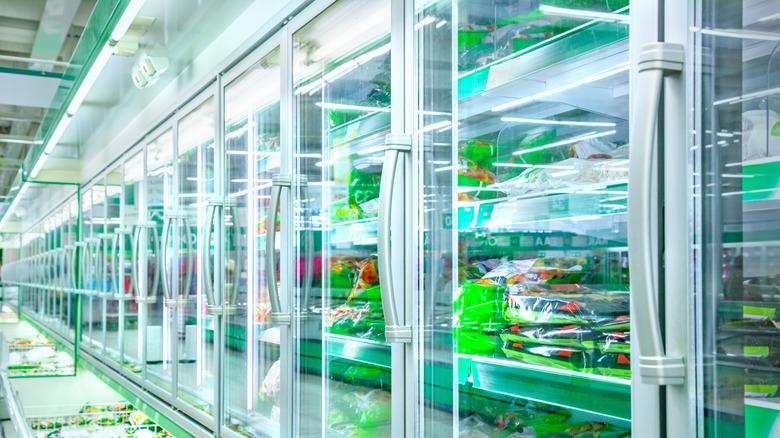 frozen vegetables aisle