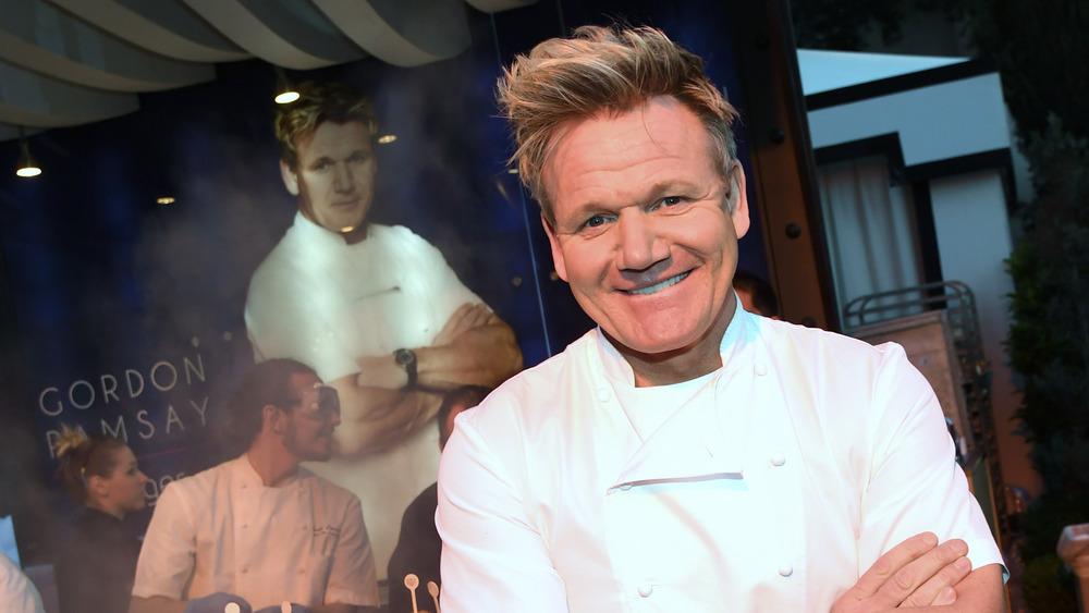 Gordon Ramsay in a chef's uniform