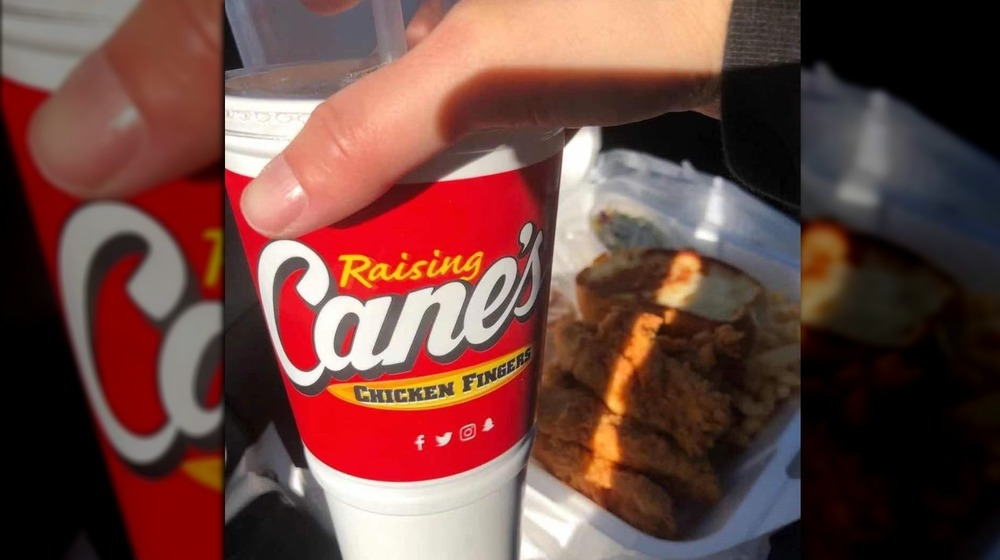 Raising Cane's brand cup