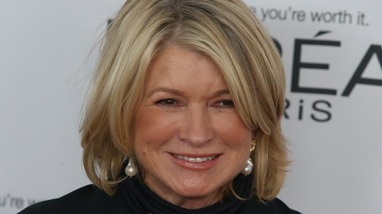 Martha Stewart in earrings smiling