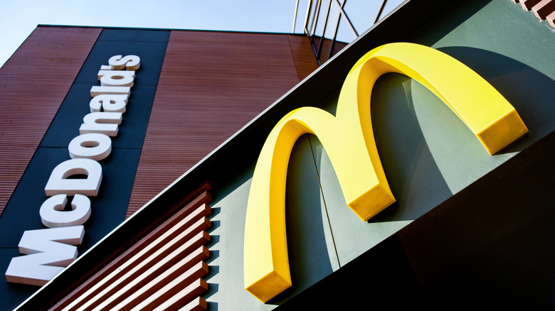 McDonald's exterior with Golden Arches logo
