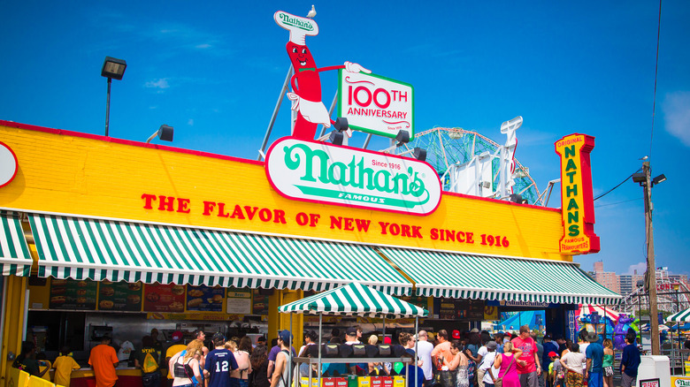 Nathan's Famous storefront