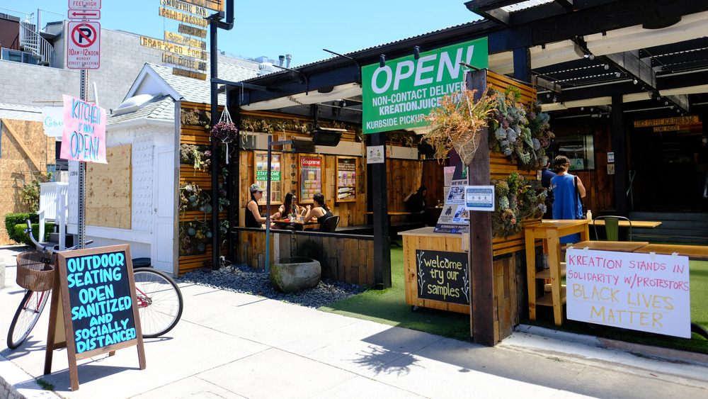 Outdoor dining open in the summer