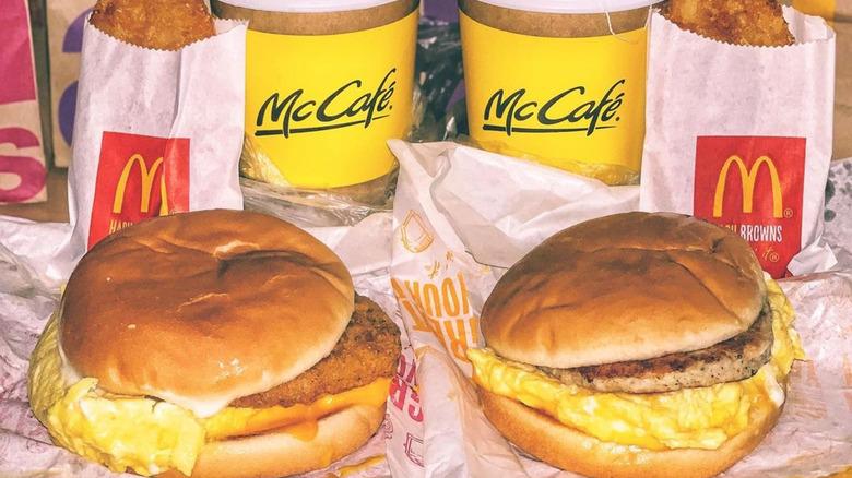 McDonald's breakfast for 2