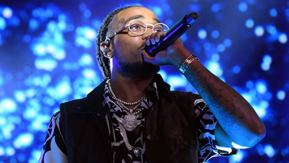 Quavo performing on stage