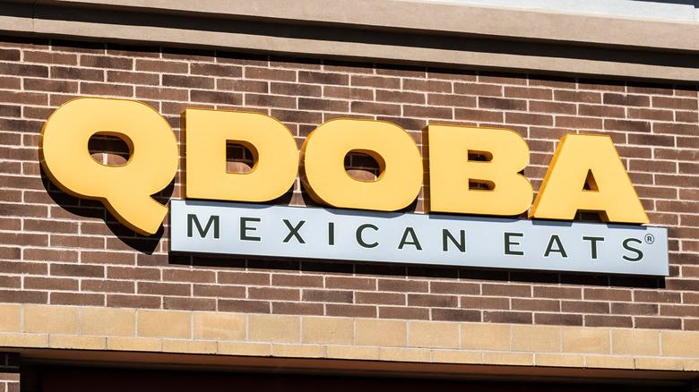 Qdoba Mexican Eats sign