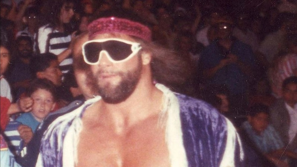 Randy Savage in the wrestling ring