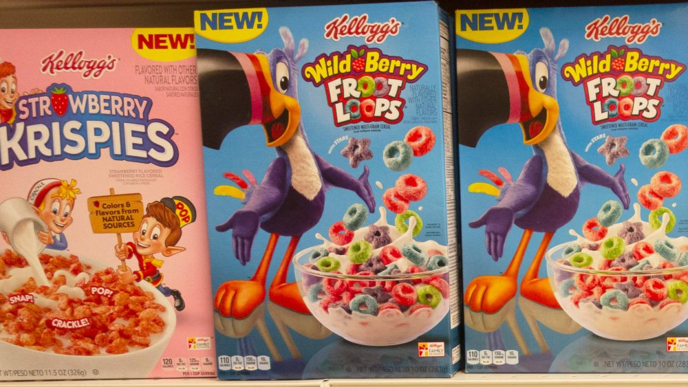 cereal boxes on store shevles