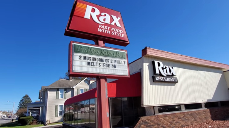 Rax restaurant exterior