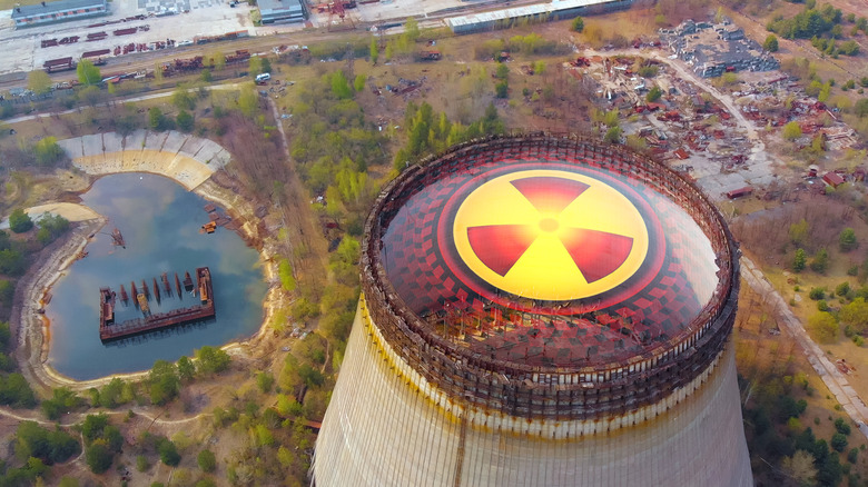 Cooling towers at Chernobyl plant