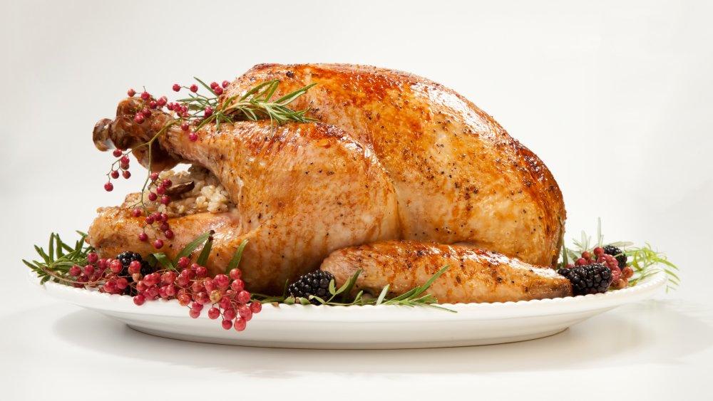 roasted turkey family meal