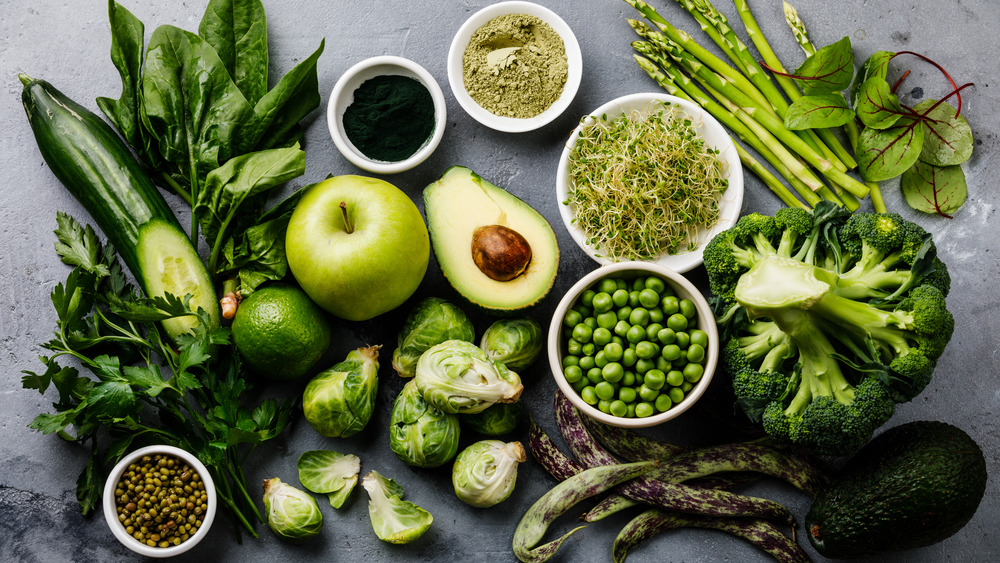 A generic photo of green vegetables