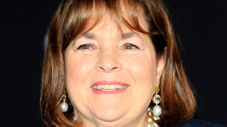 Close up of Ina Garten wearing earrings