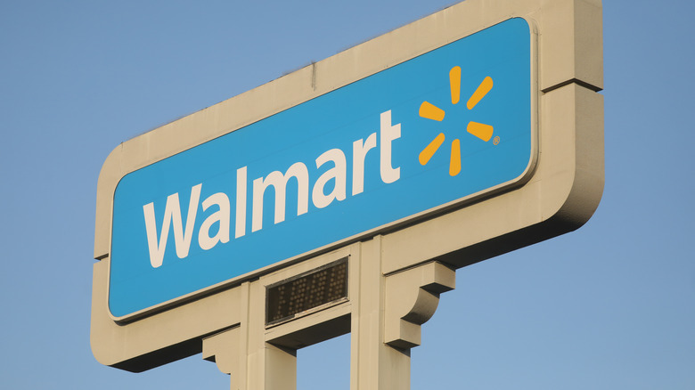 Walmart sign and blue sky