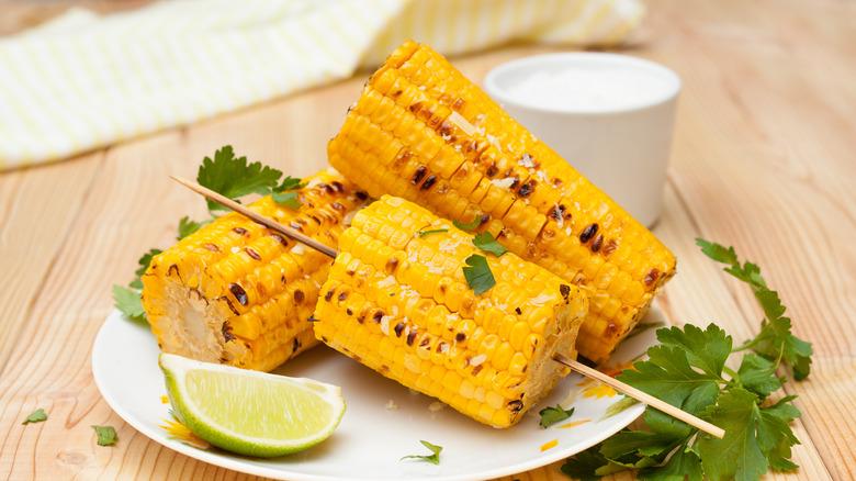 roasted corn on cob