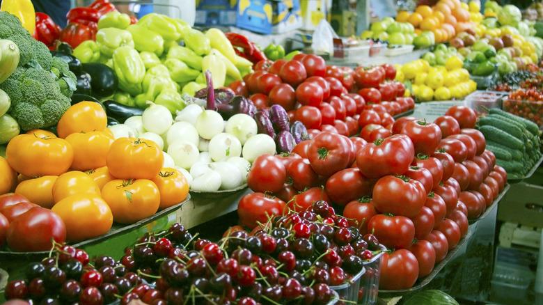 produce, vegetables