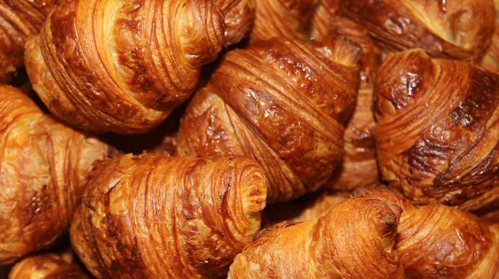 Croissants piled up
