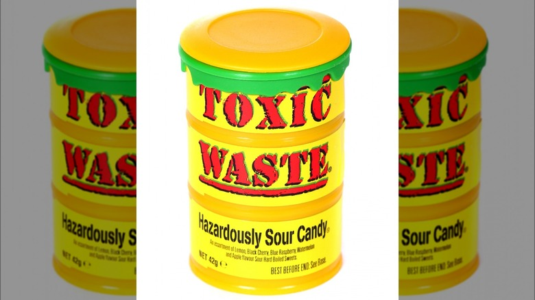Toxic Waste candy yellow barrel