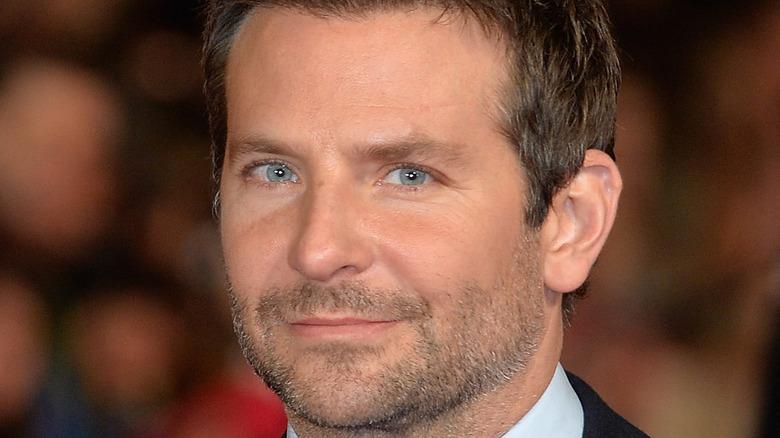 Bradley Cooper staring at the camera