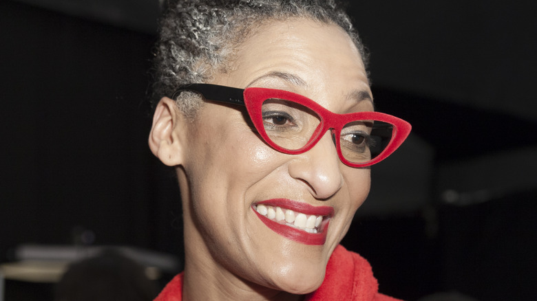 Carla Hall smiling at event