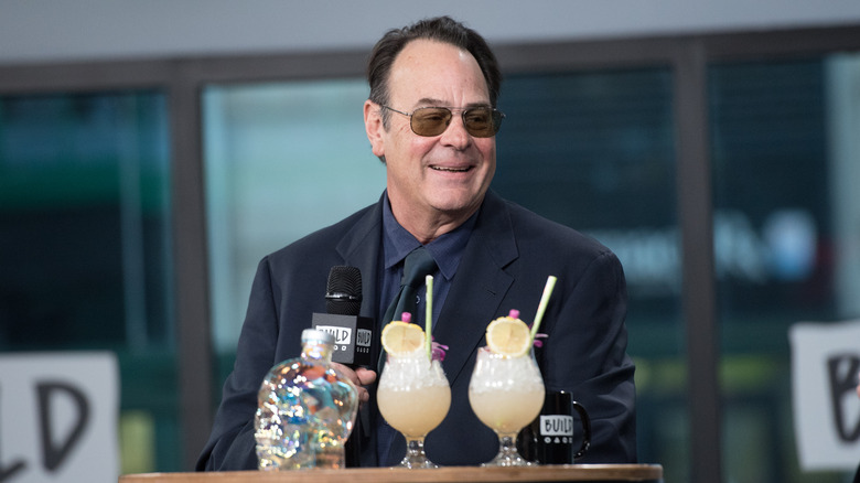 Dan Aykroyd with Crystal Head Vodka and cocktails