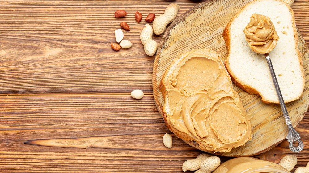 Peanut butter sandwich makings