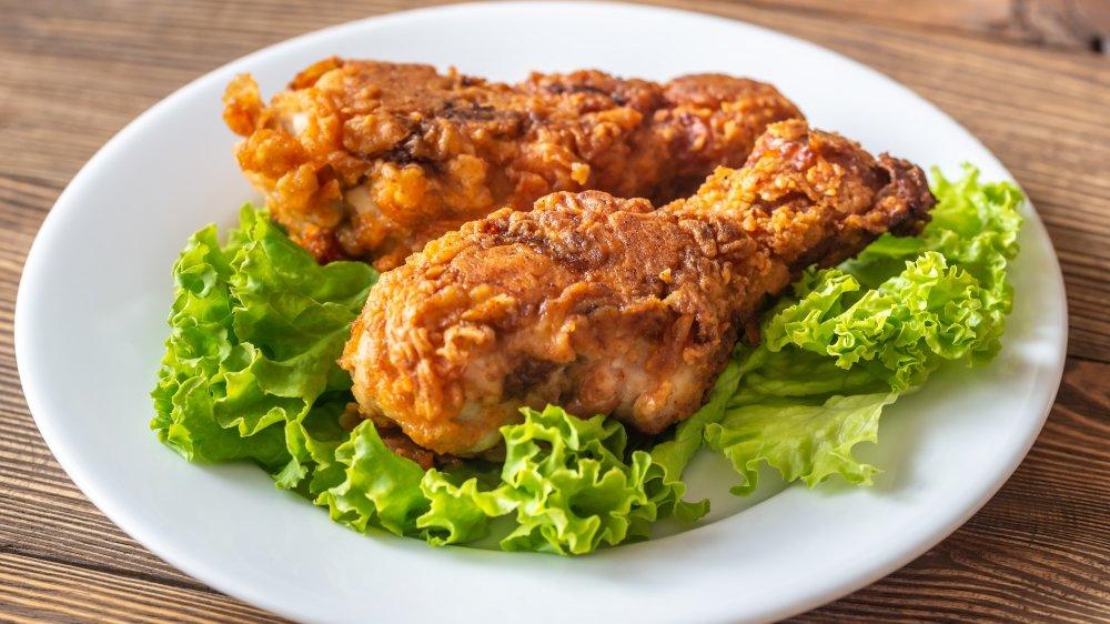 Buttermilk fried chicken legs