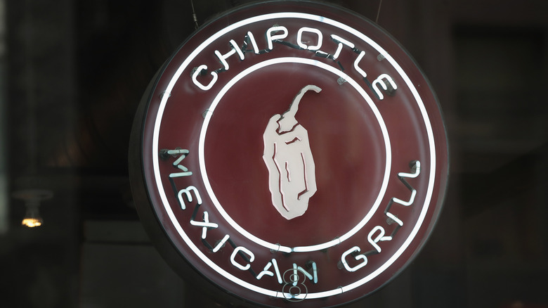 Chipotle neon sign