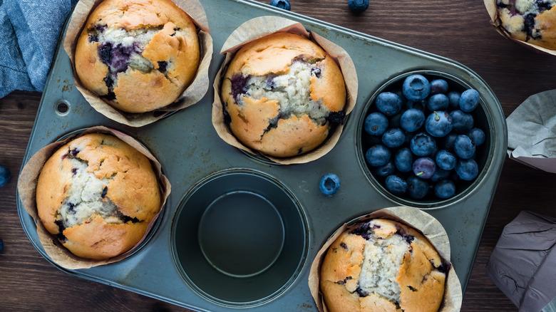 Babs' three-ingredient blueberry muffin recipe