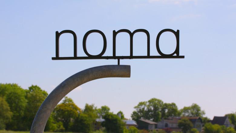 Noma restaurant signage