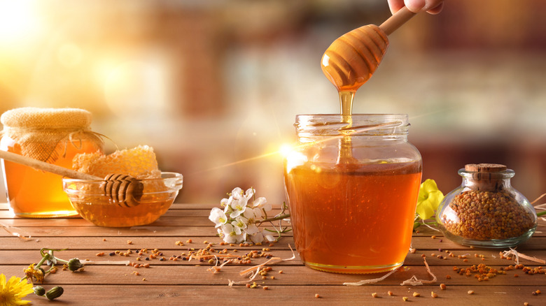 jars of honey products