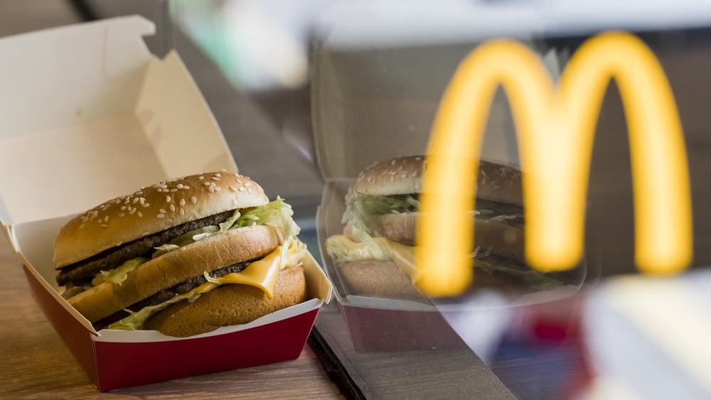 McDonald's Big Mac reflection